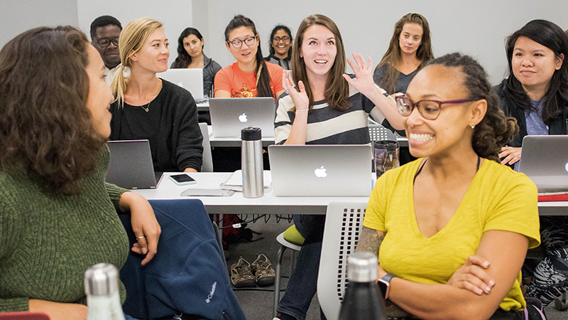 Students in classroom at UCSF Institute for Global Health Sciences master's degree