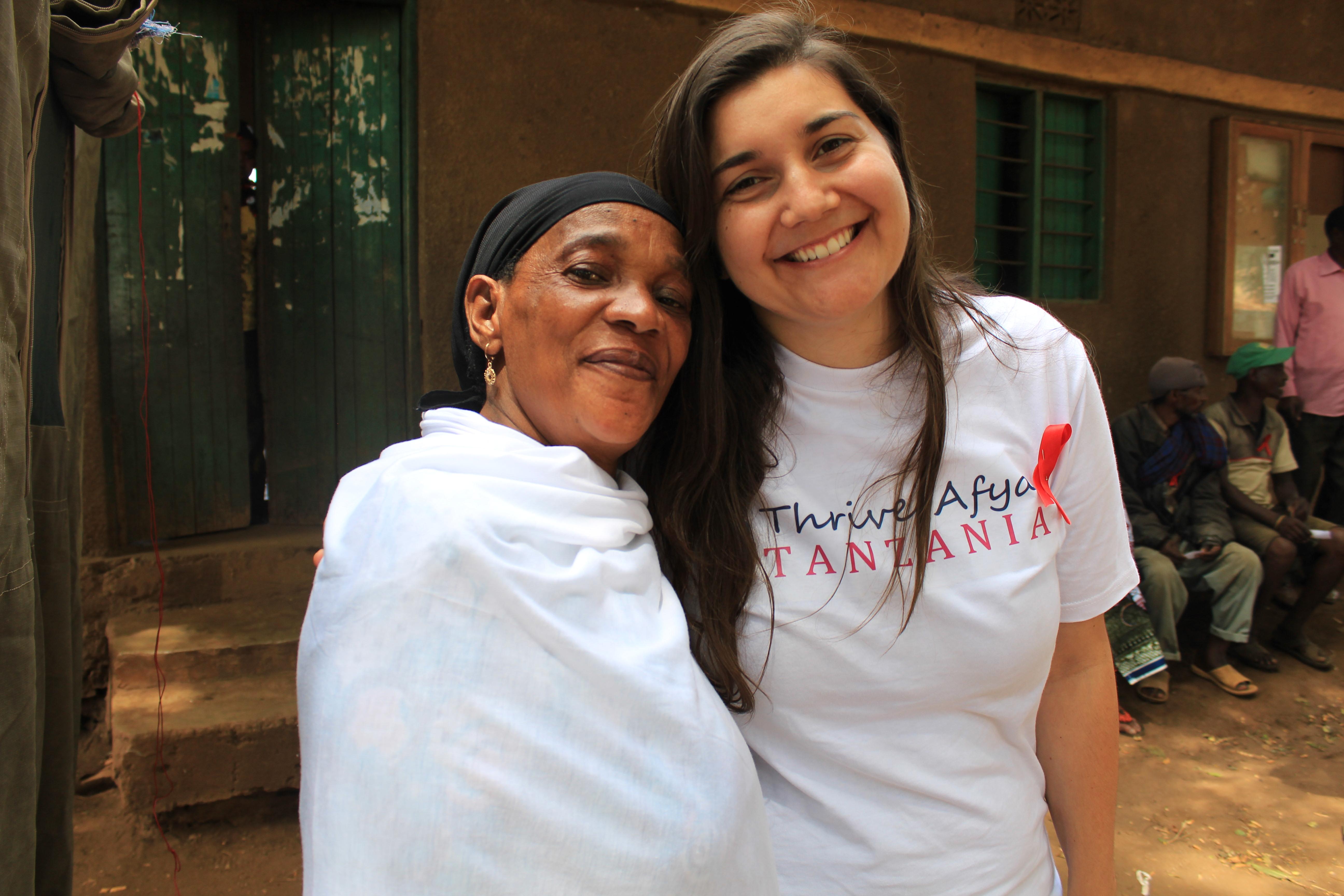 Katie Lesyna-Mlaponi and Mama Key in Tanzania
