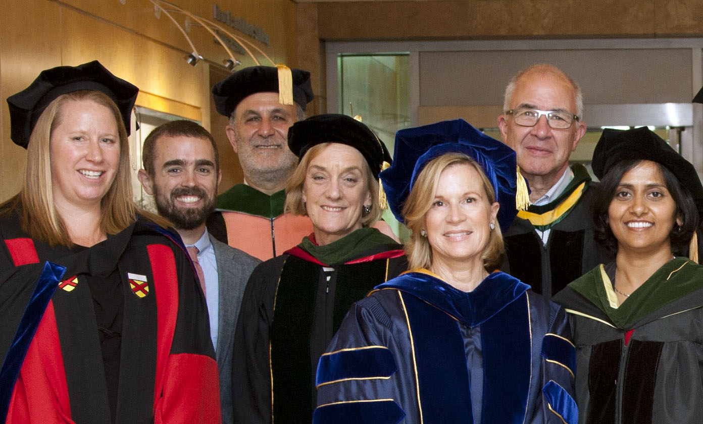 UCSF Global Health Sciences Faculty members: Elizabeth Fair, Alden Blair, Jim Kahn, Molly Cooke, Kim Baltzell, Paul Volberding, Madhavi Dandu