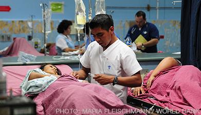 healthcare worker in emergency room