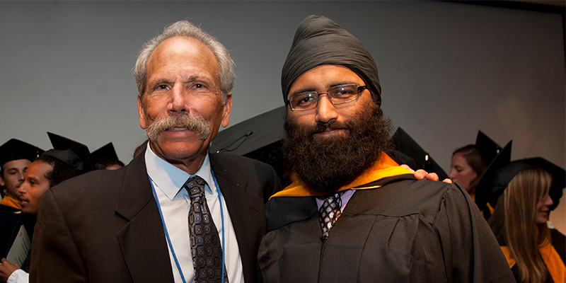 IGHS master's alumnus Harinder Chahal with Dr. Joseph Guglielmo