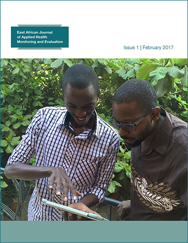 Cover for East African Journal of Applied Health Monitoring and Evaluation