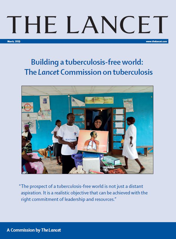 Cover of The Lancet Commission on TB REport