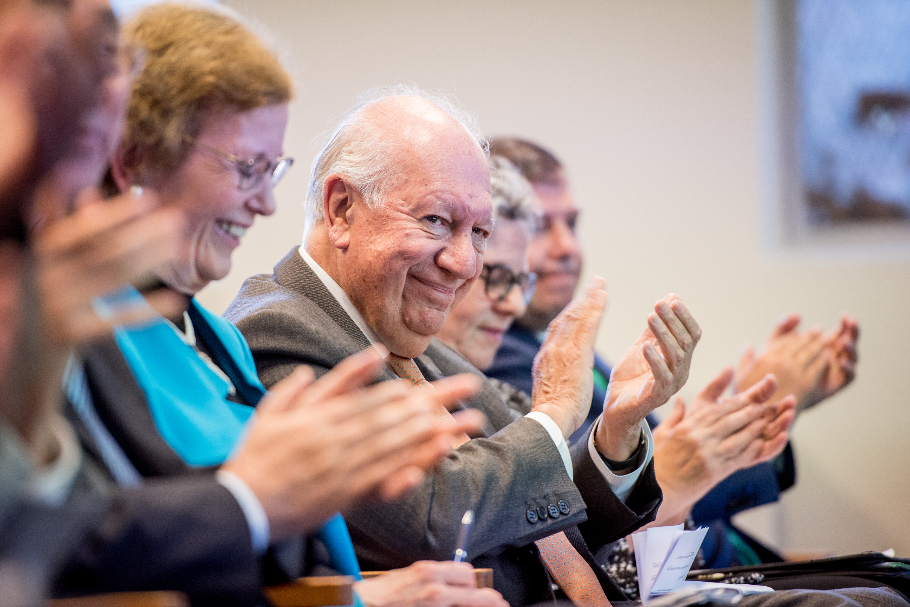 Mary Robinson, former president of Ireland, and Ricardo Lagos, former president of Chile