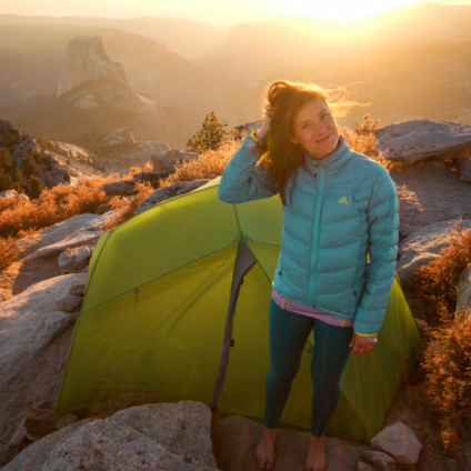 Thea Sutton MS '14 in Yosemite National Park