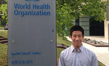 Jason Nagata, UCSF physician fellow, at World Health Organization headquarters