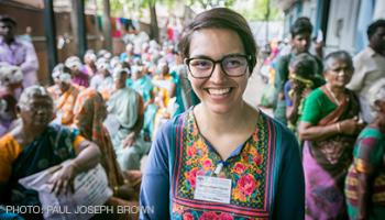 Photo of Institute for Global Health Sciences student Jamen Rose Garcia in India