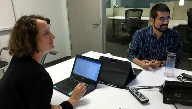 Jennifer Smith, faculty in the UCSF Institute for Global Health Sciences, mentors master's student Omar Sajjad