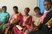 Group of East African pregnant women talking together